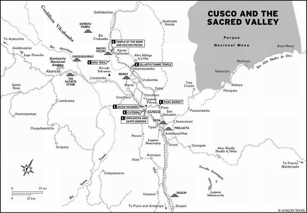 Священная долина инков на карте