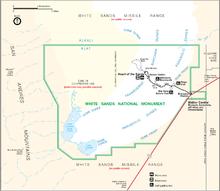 Карта нацпамятника Уайт Сэндс (кликабельна!)