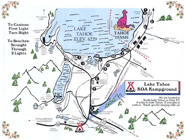 south lake tahoe map
