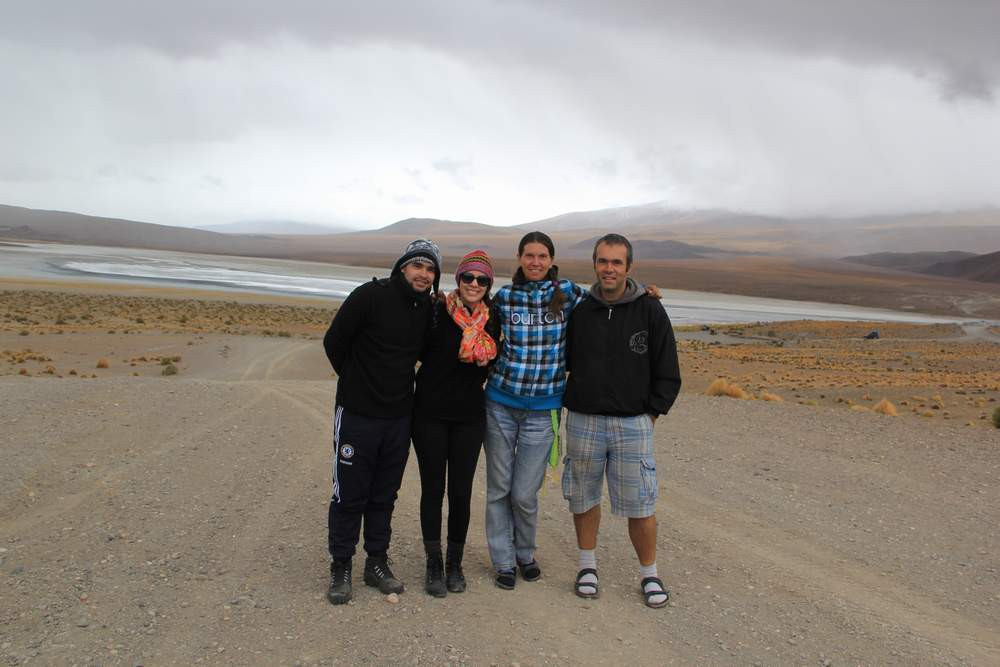 Нам холодно! Но нам весело вместе: Аугушту, Тасиана, я и Дмитрий