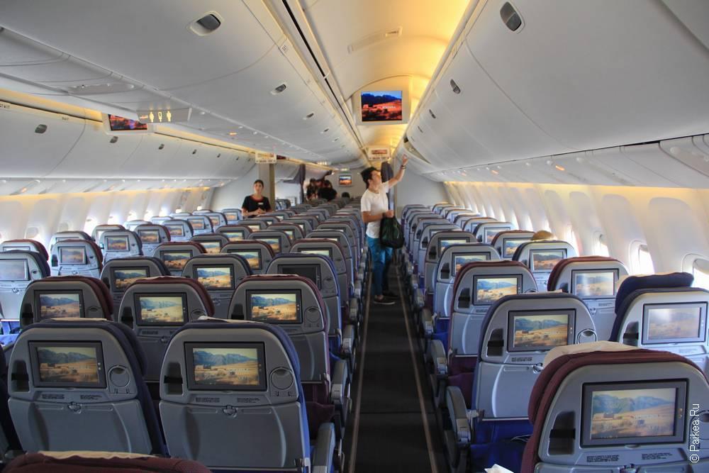 в самолете авиакомпании lan