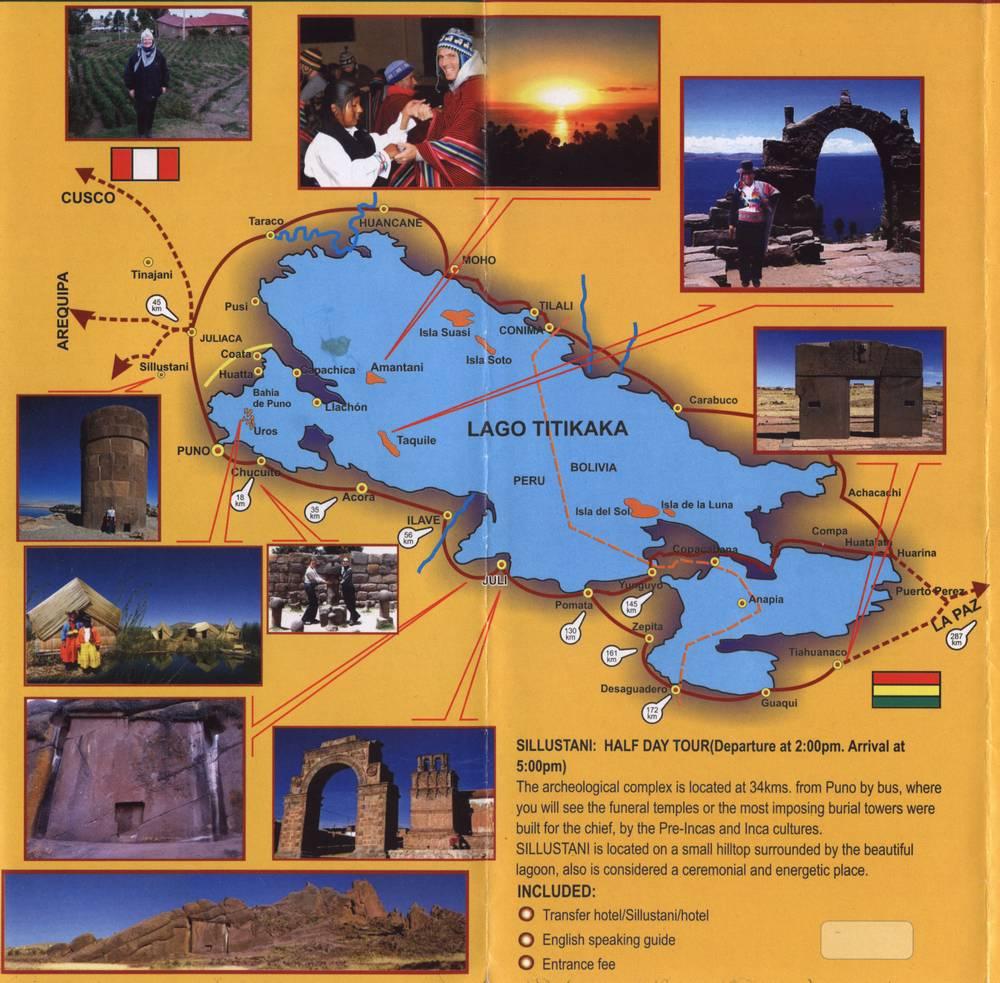 озеро титикака на карте