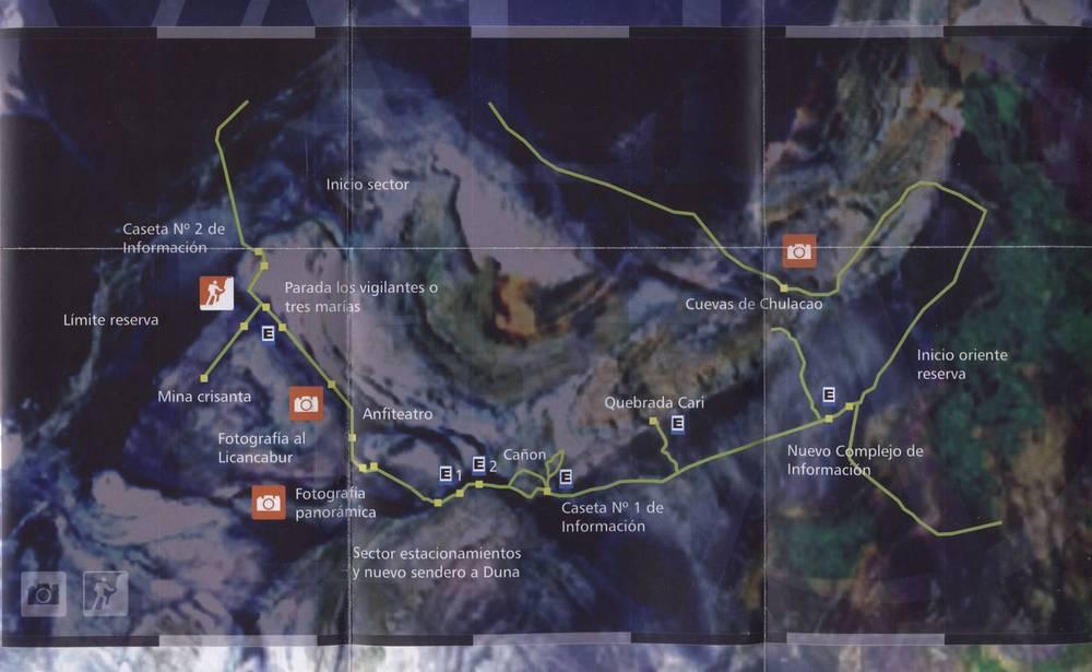 Карта Долины Луны в пустыне Атакама
