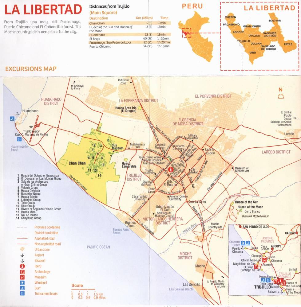 Карта округа Ла Либертад