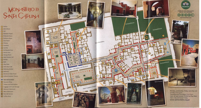 Карта монастыря Санта-Каталина