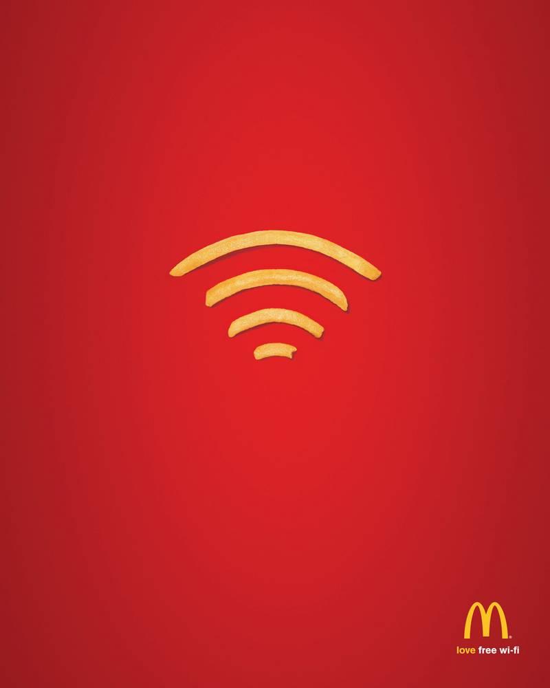 реклама wifi в макдоналдс