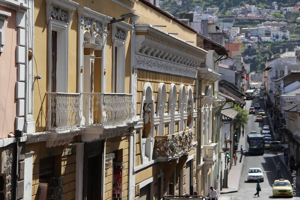 улица в столице эквадора