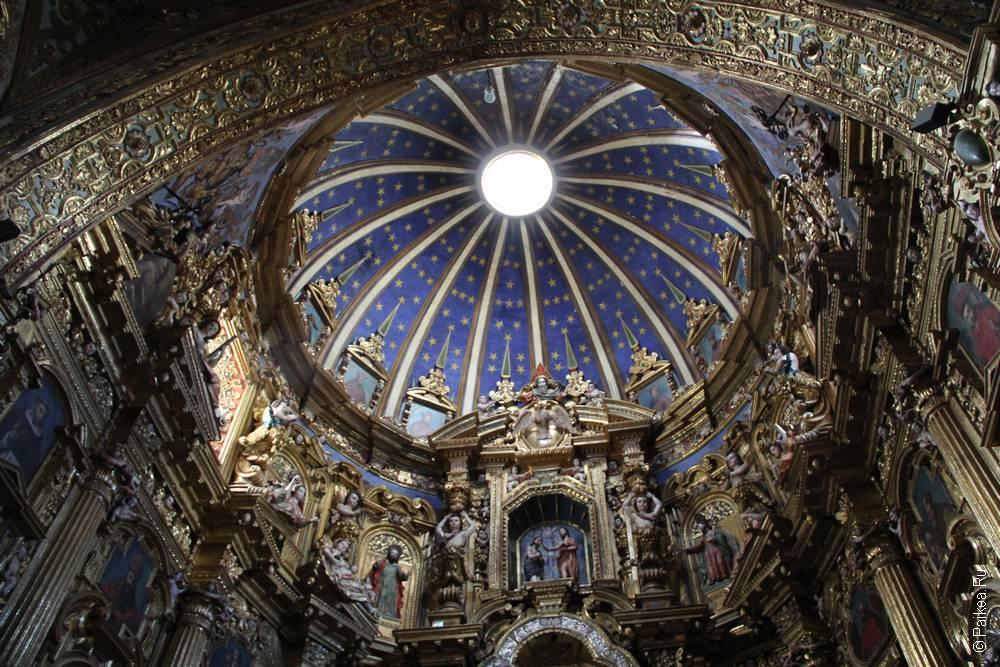 сводчатый купол в соборе