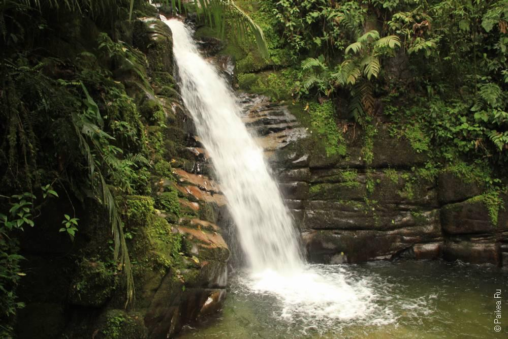 Водопад Санта-Рита, Саленто, Колумбия (Santa Rita waterfall, Salento, Colombia)