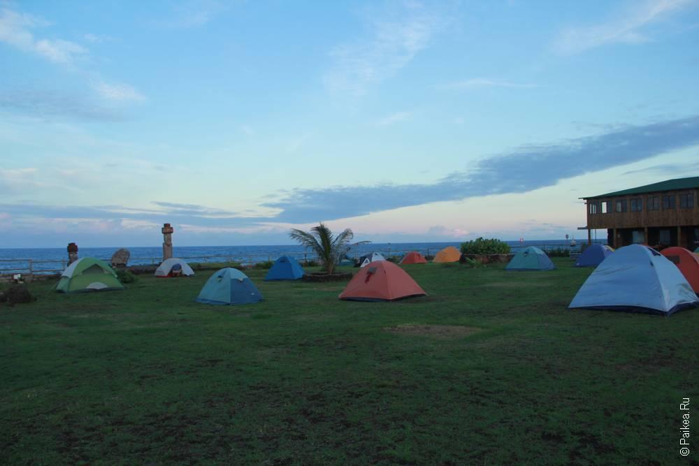 Кемпинг Михиноа с видом на океан