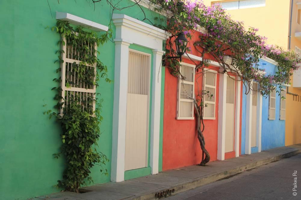 Разноцветные стены в Колумбии