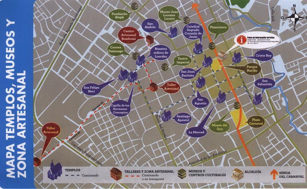 Карта Пасто