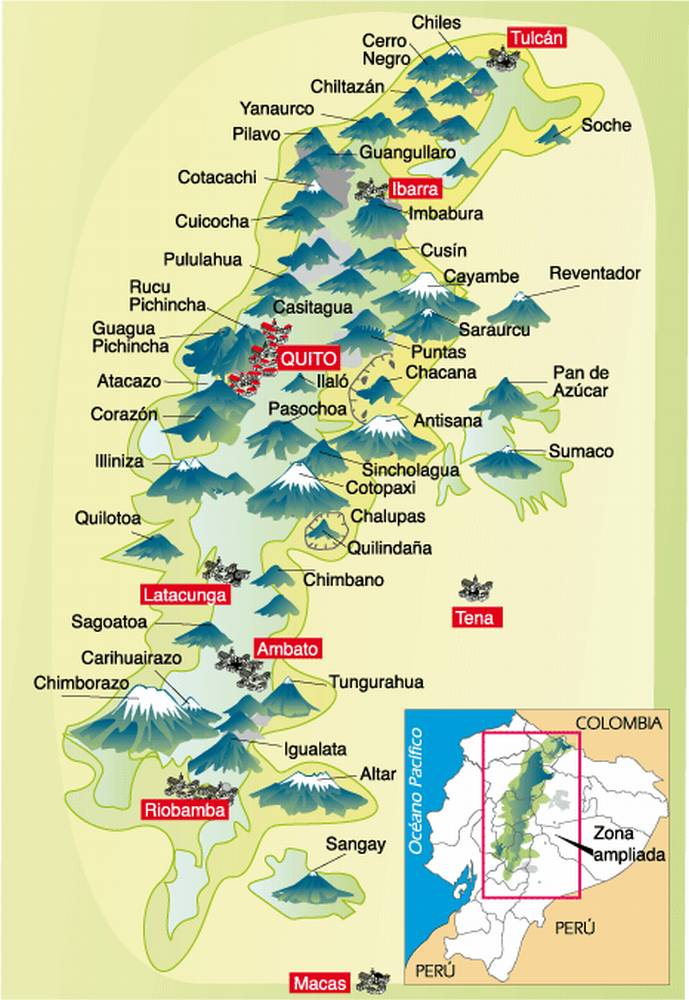 Эквадор - страна вулканов