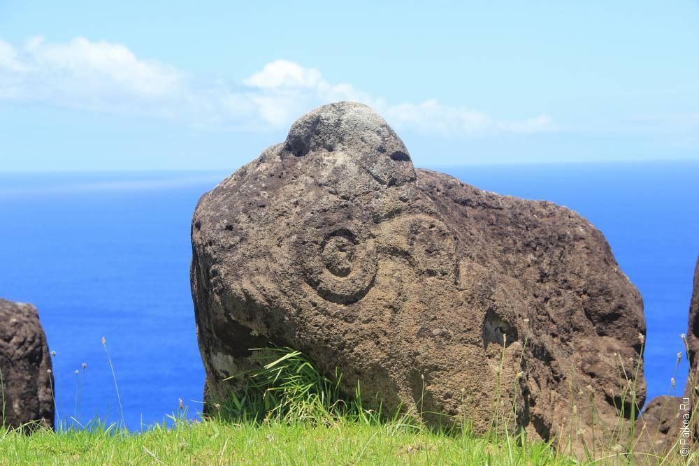 остров пасхи Петроглифы в Оронго
