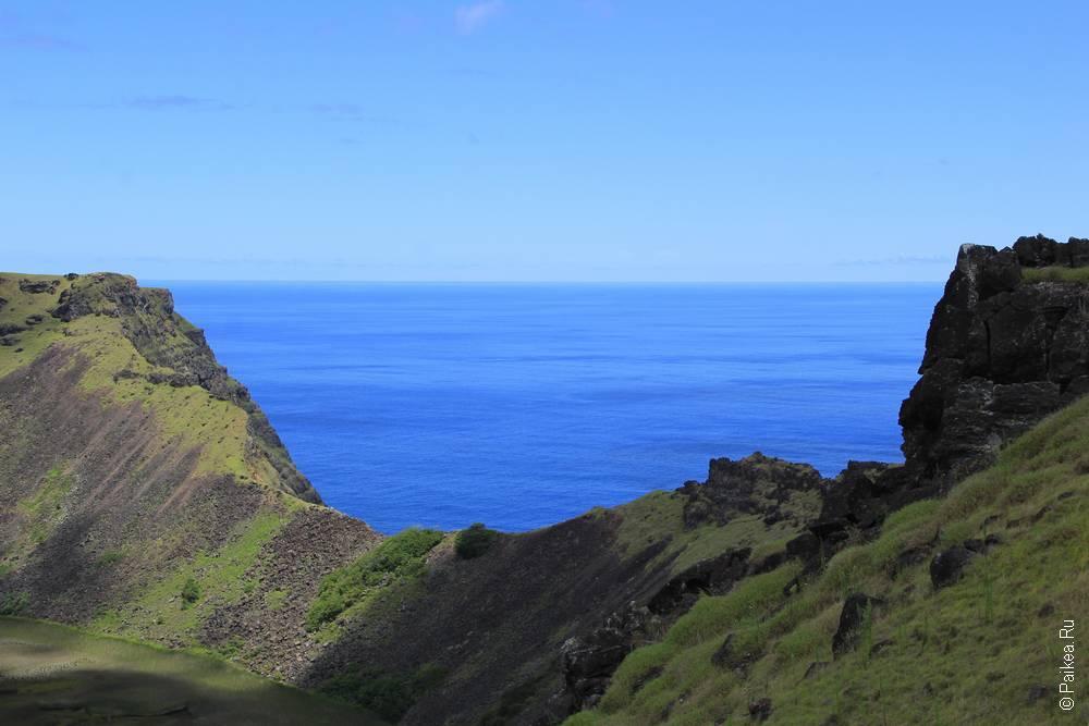остров пасхи вулкан Рано Кау