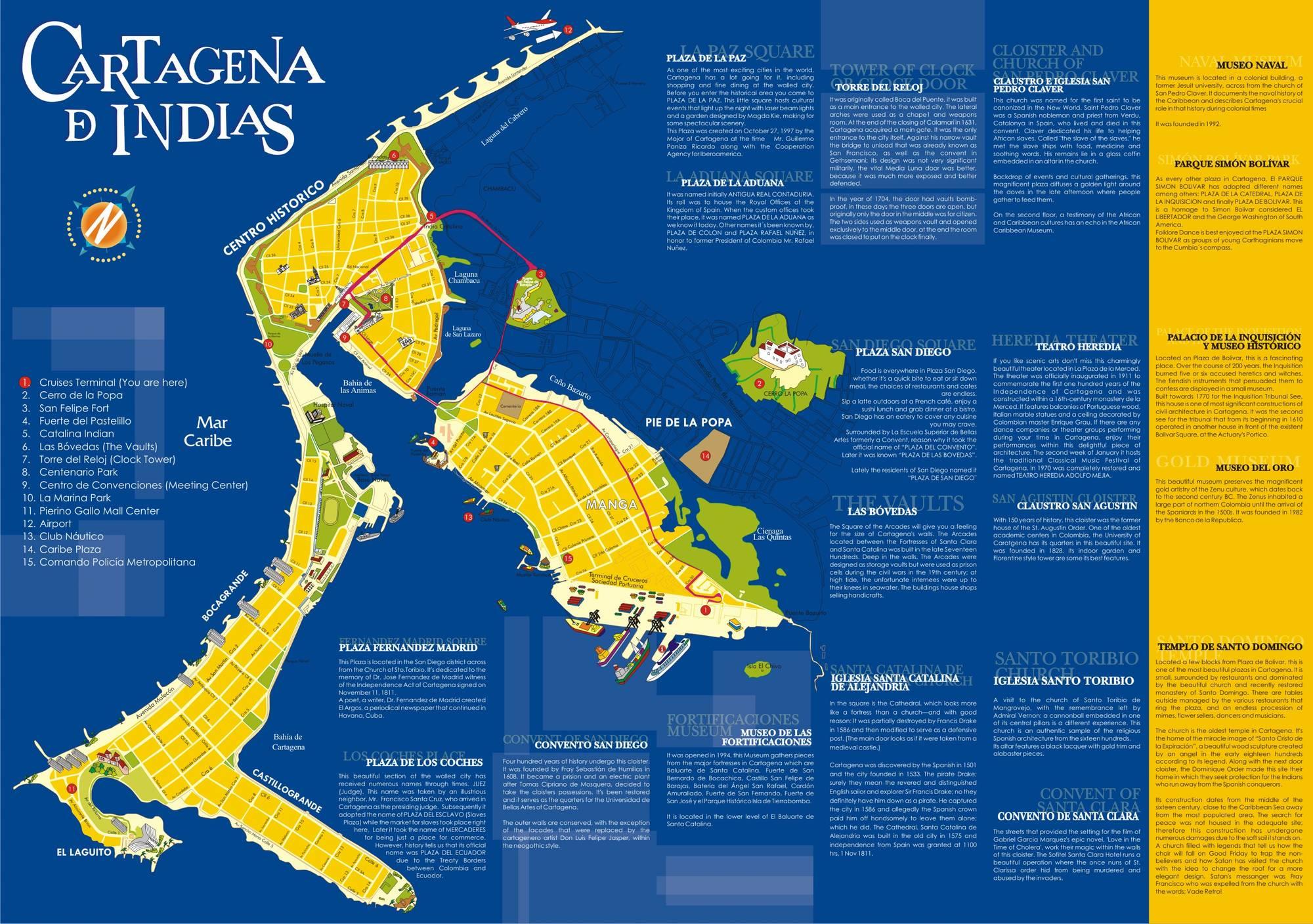 Карта Картахены
