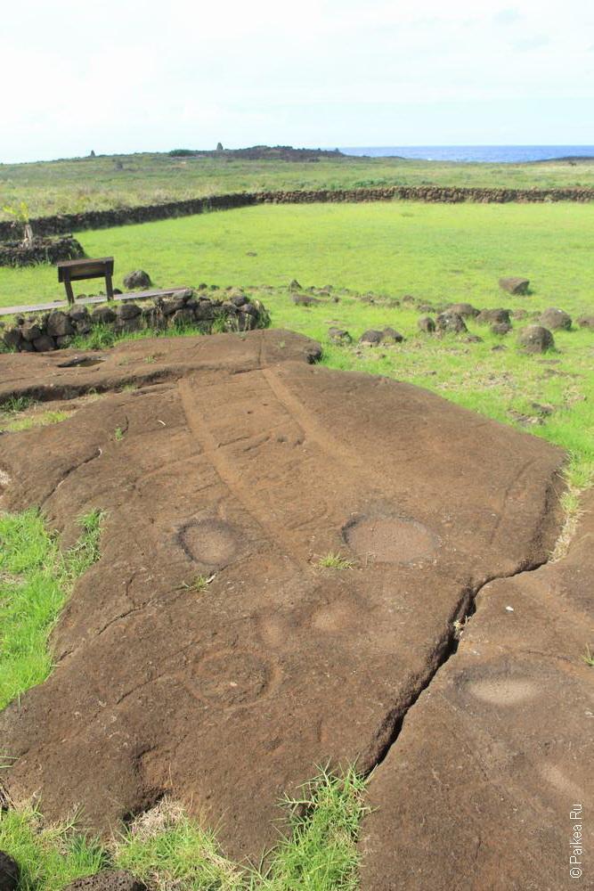 Папа Вака, Остров Пасхи (Papa Vaka, Easter island)