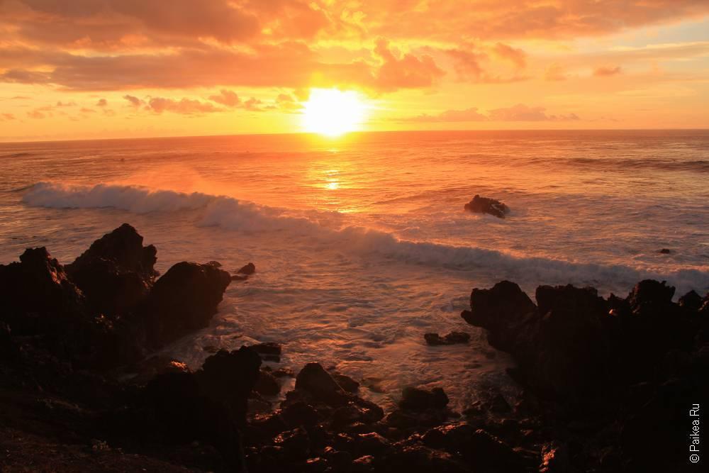 тихий океан и солнце
