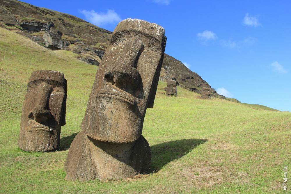 истуканы остров пасхи Рано Рараку