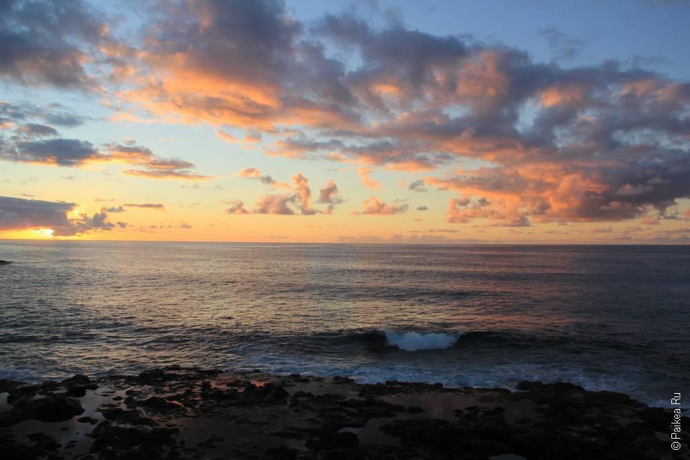 рассвет на острове пасхи