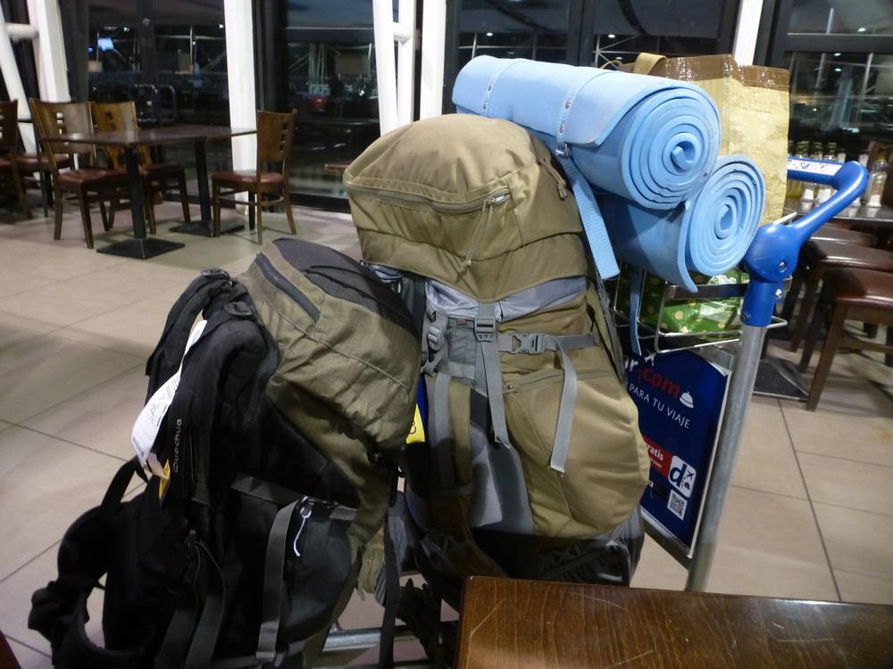 Наш багаж в аэропорту Сантьяго (Чили)