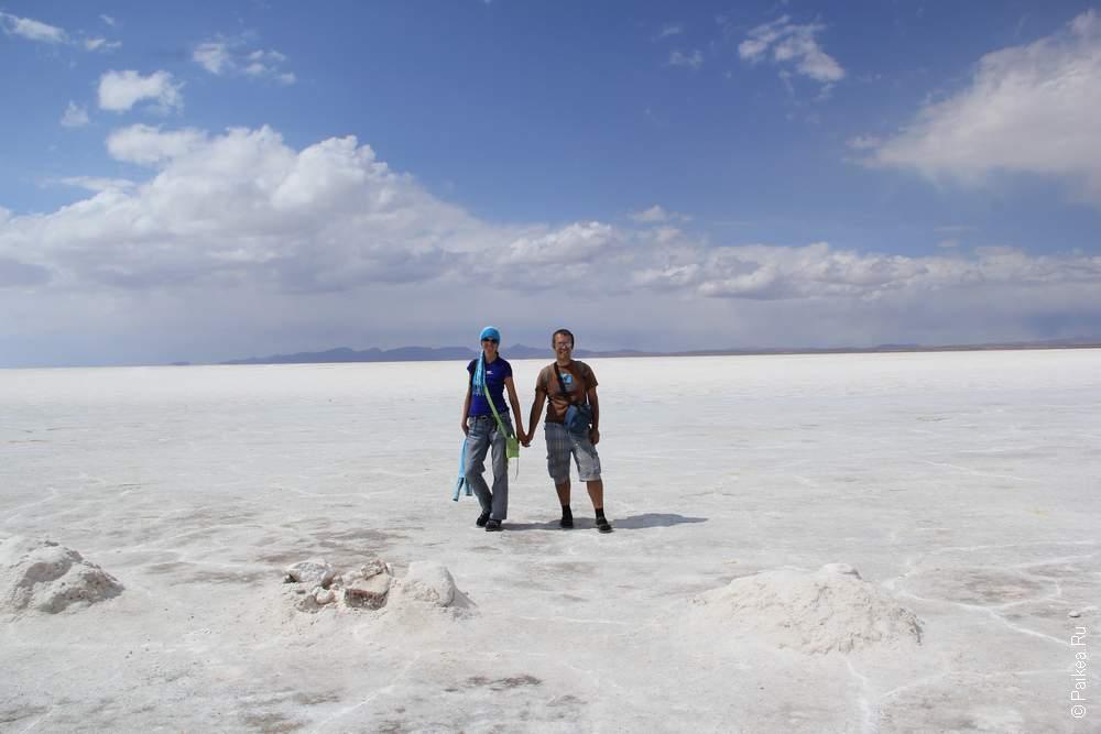 А вот и соляное море!