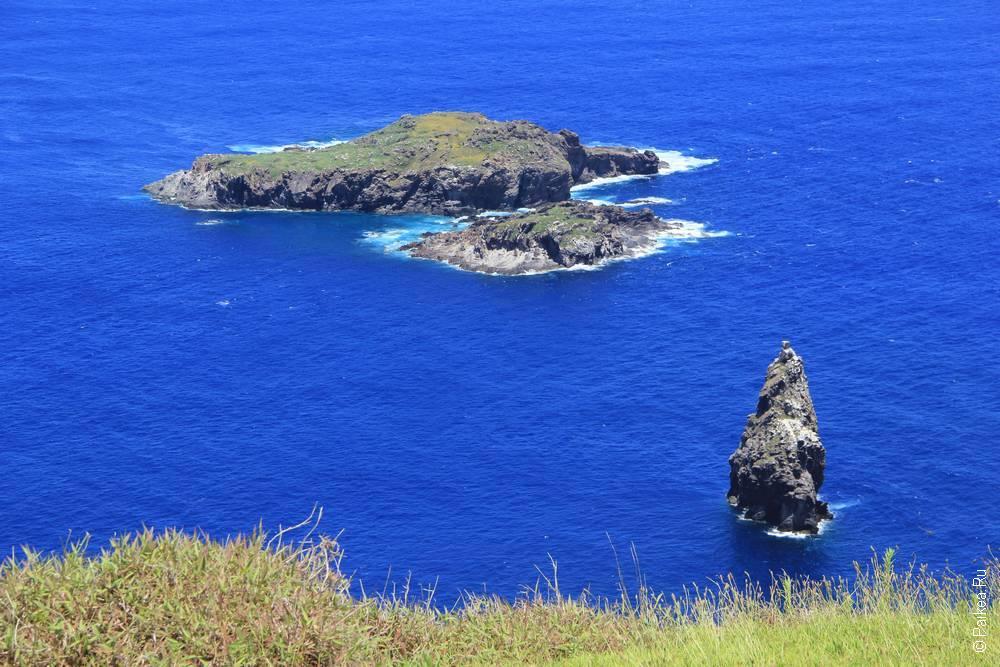 Острова Человека-птицы, вид с Оронго