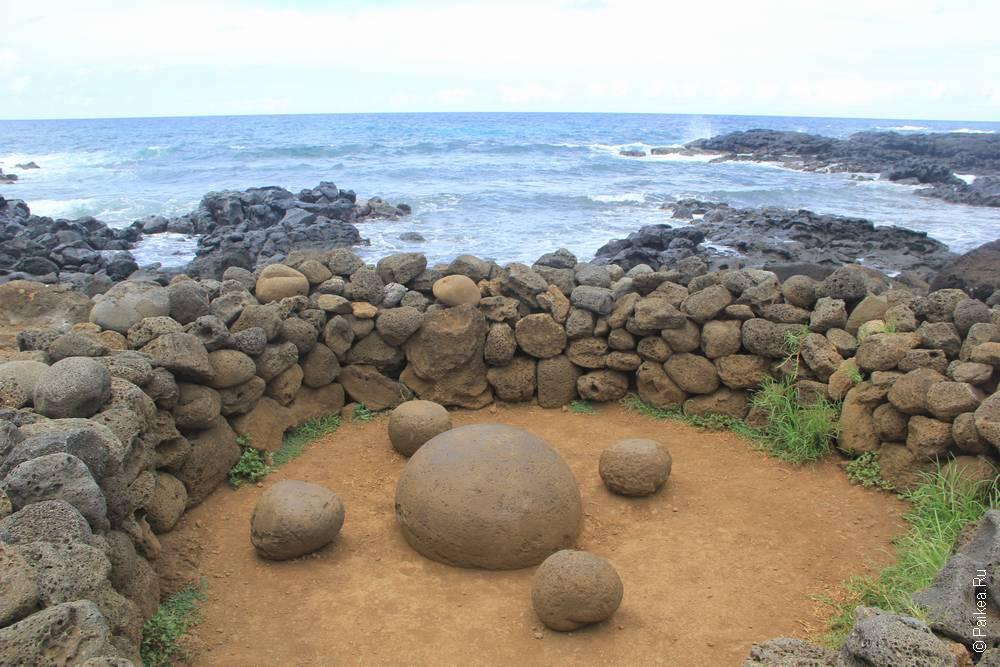 Символическое изображение пупа Земли на острове Пасхи