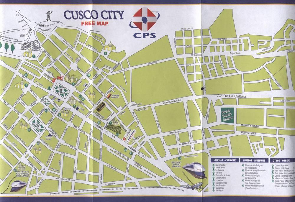 Карта Куско