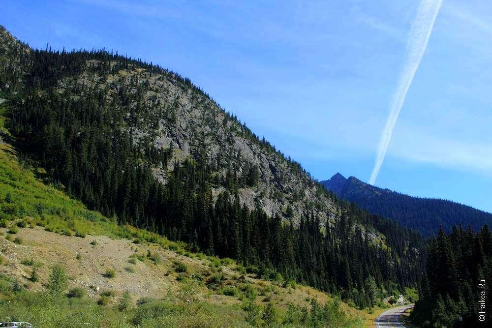 Горный пейзаж в штате Вашингтон