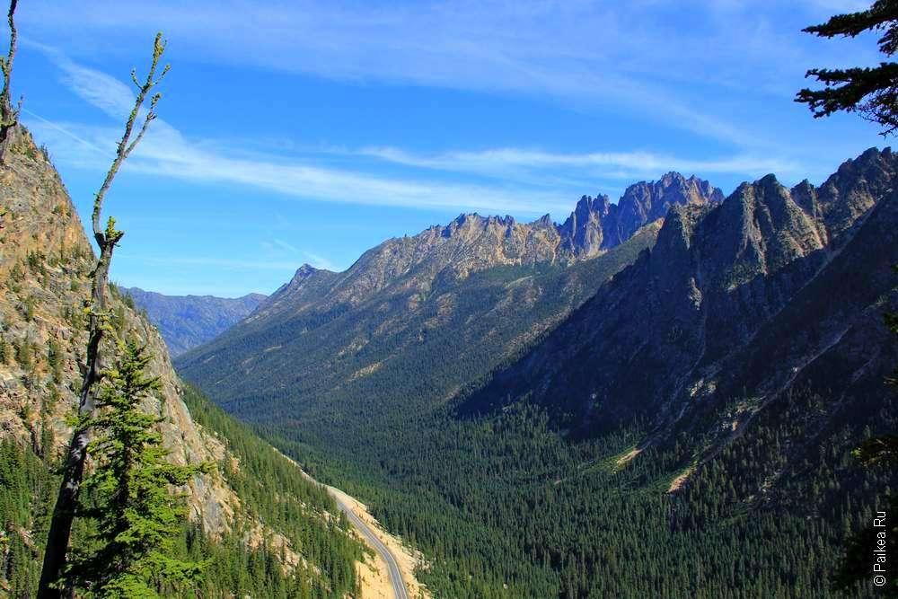 горный перевал вашингтона