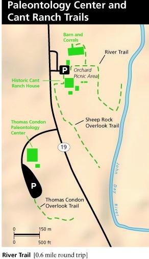 Карта трейлов у Овечьей горы в парке Джон Дей в Орегоне