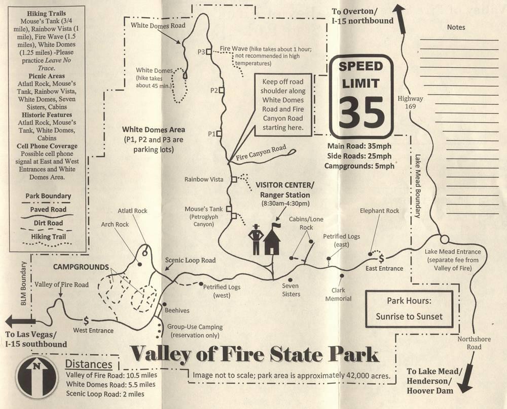 Карта Долины огня