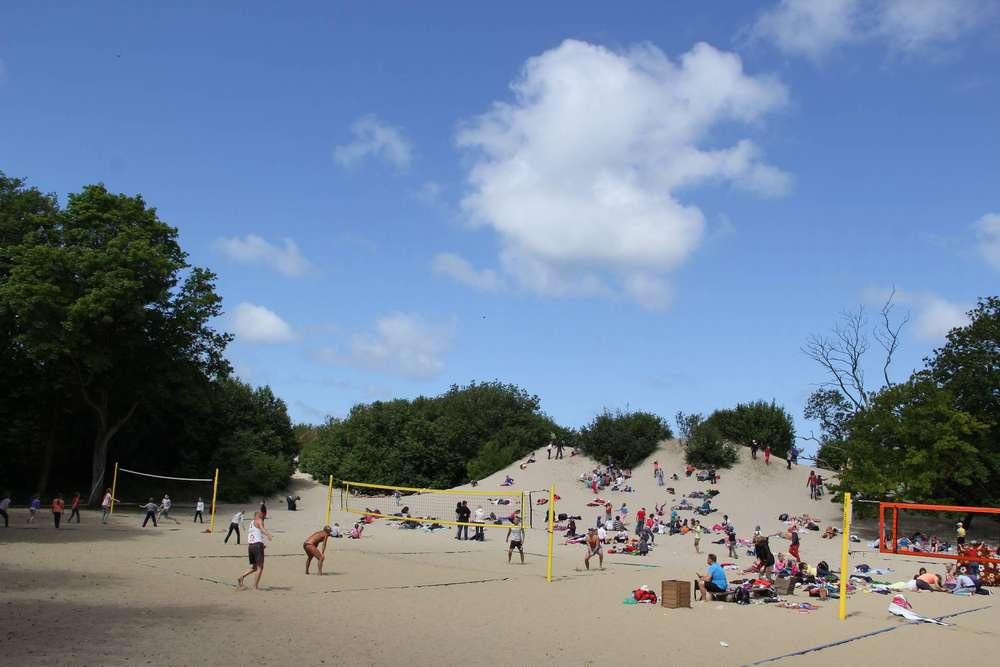 городской парк на дюне