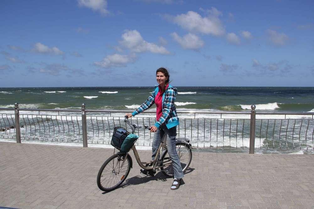 велосипед на набережной