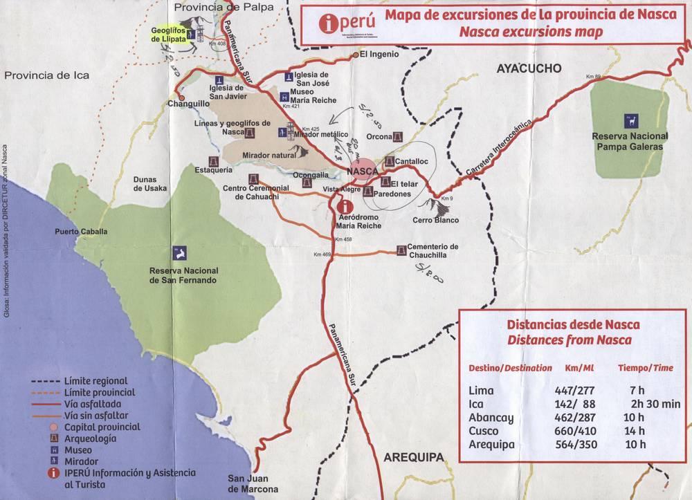 Карта достопримечательностей вокруг Наски