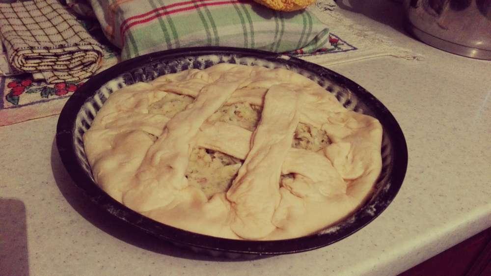 пирог с картошкой и луком в форме