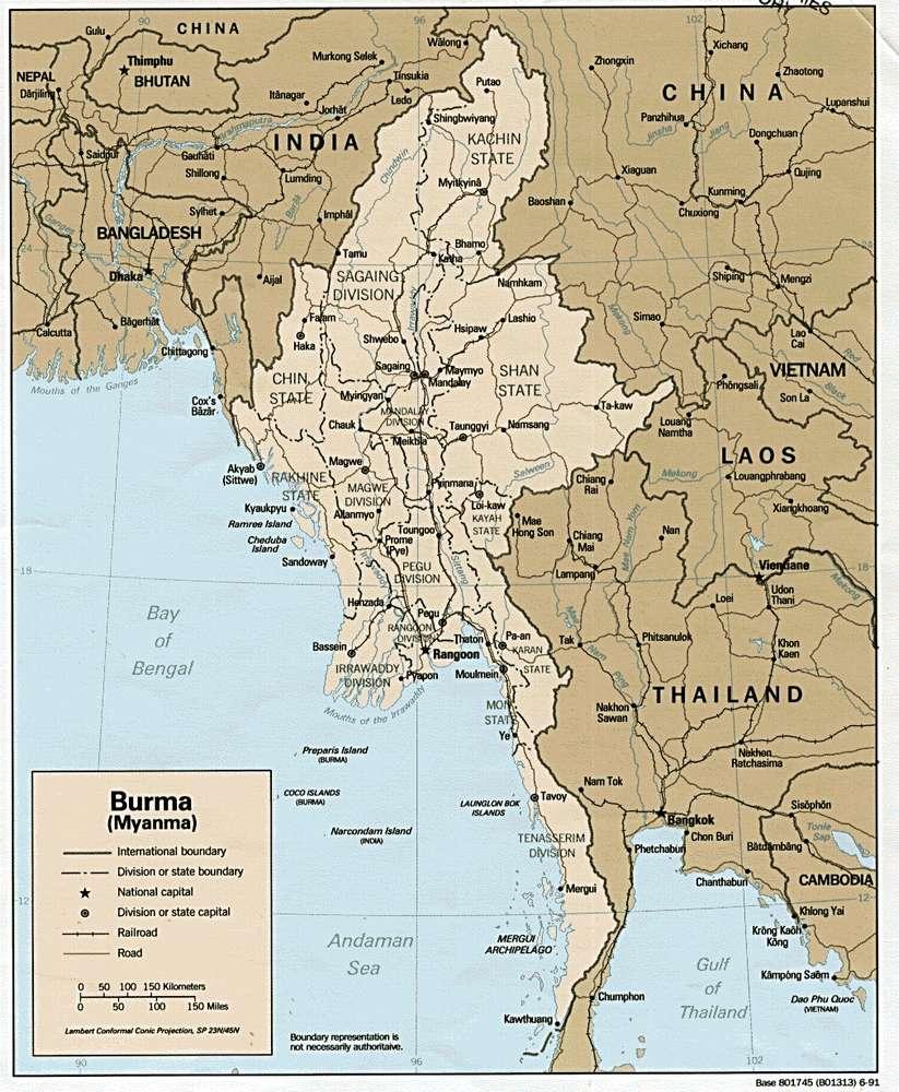 Штаты в Мьянме