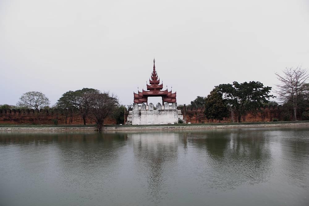 Стена дворца Мандалая
