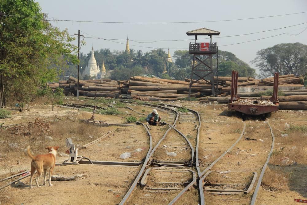 железнодорожные пути в мьянме