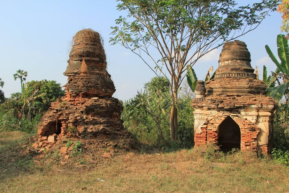 древние ступы в мьянме