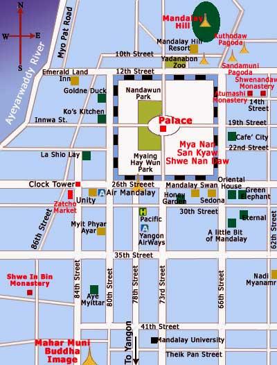 мандалай карта