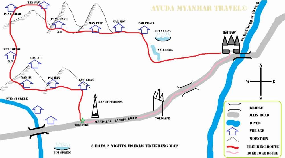 Карта треккинга в Сипо