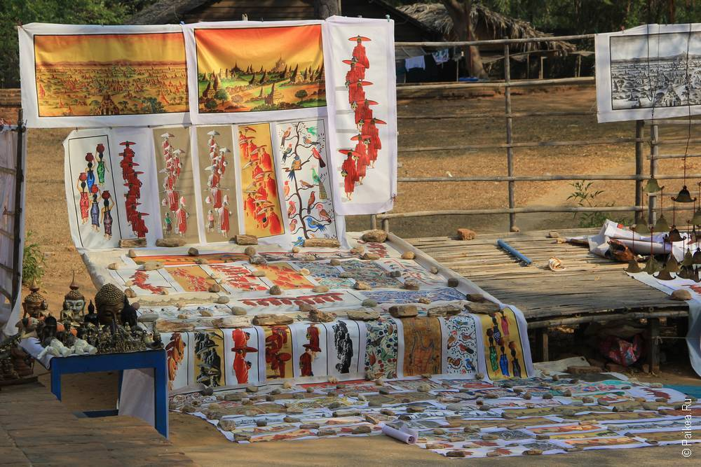 Песочная живопись в Мьянме