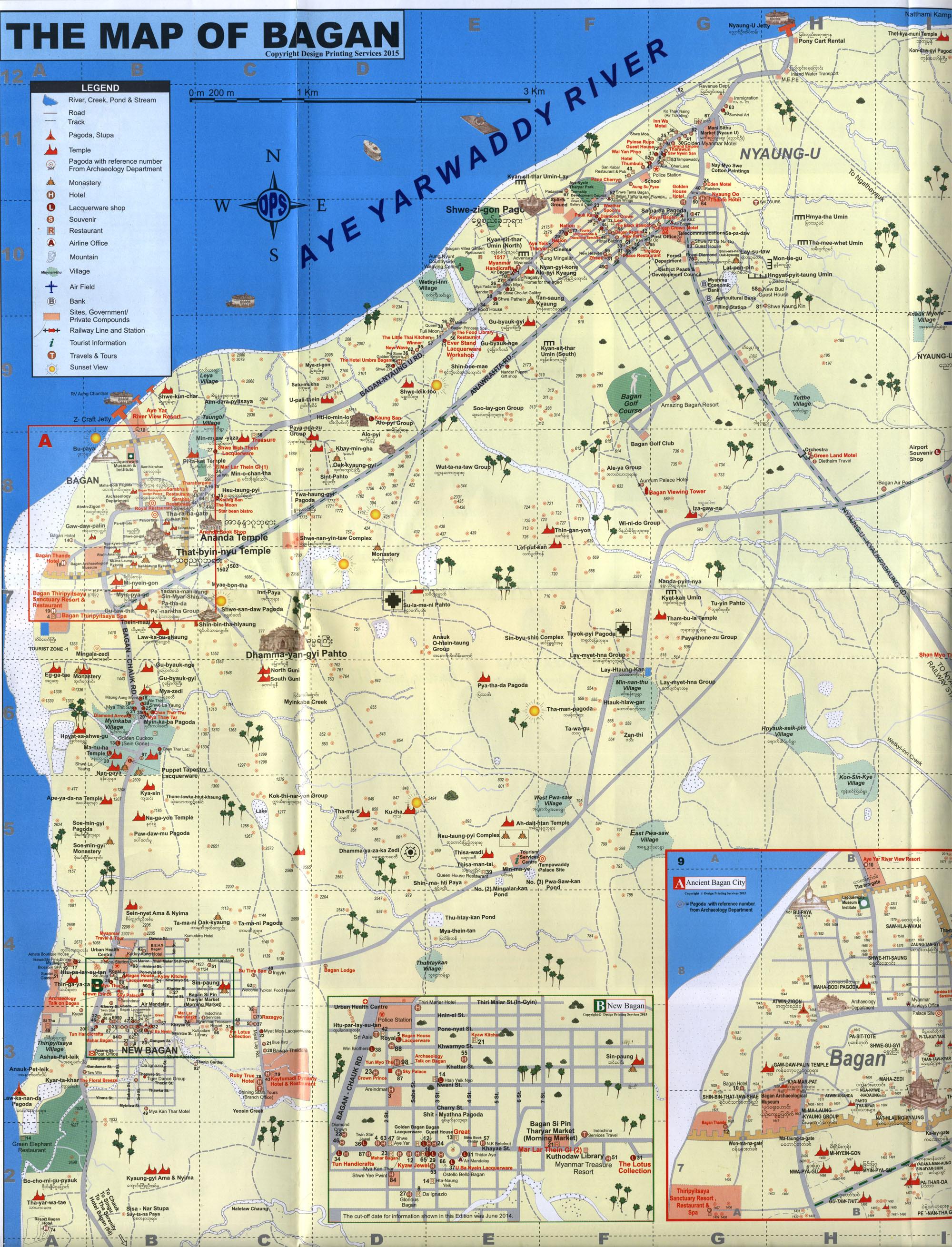Баган карта