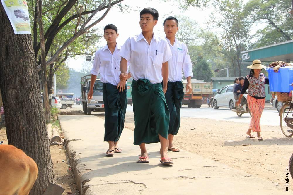 лонжи в мьянме
