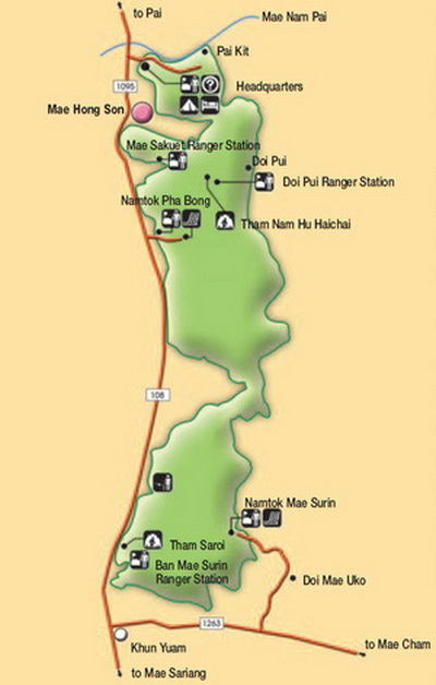 Мэ Сурин карта