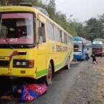 затор на горной дороге в мьянме