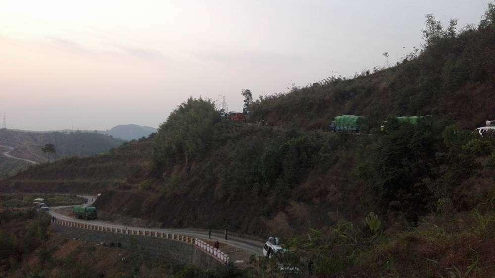 дорог в горах мьянмы