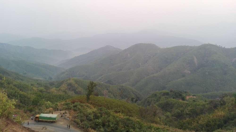 горы в мьянме